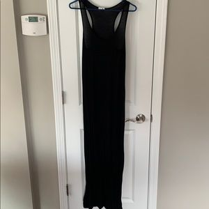 Black Maxi Dress with Front Pocket